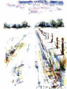 winter gravel